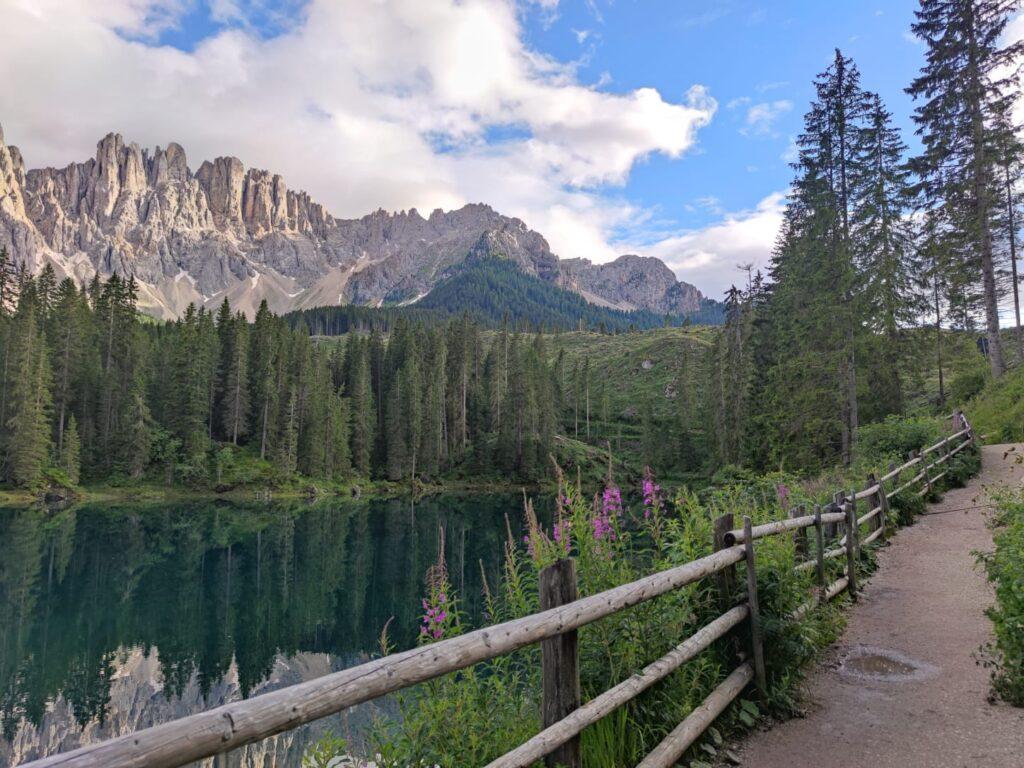 Lago di Carezza - lago arcobaleno